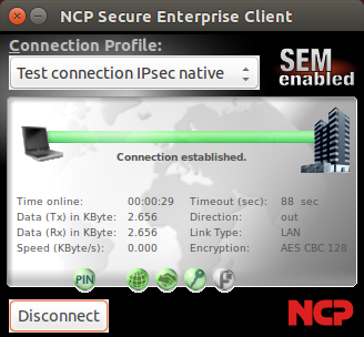 NCP Secure VPN Enterprise Client for Linux