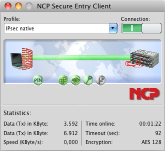 NCP Secure Entry Client for Mac OS