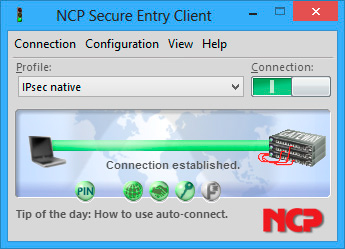 NCP Secure Entry Client for Windows 32/64 bit
